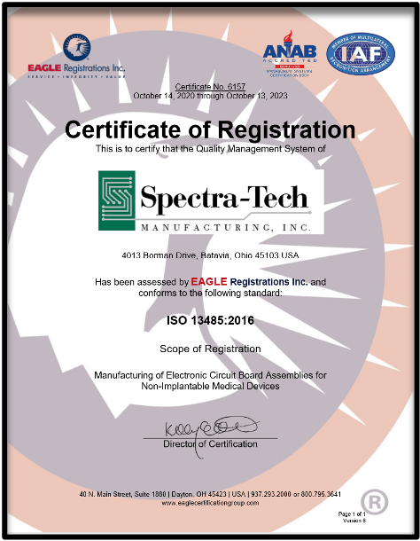 Click For Spectra-Tech ISO Certificate